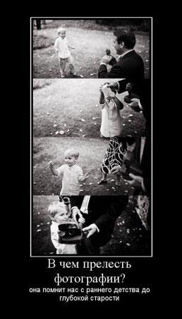 В чем прелесть фотографии?