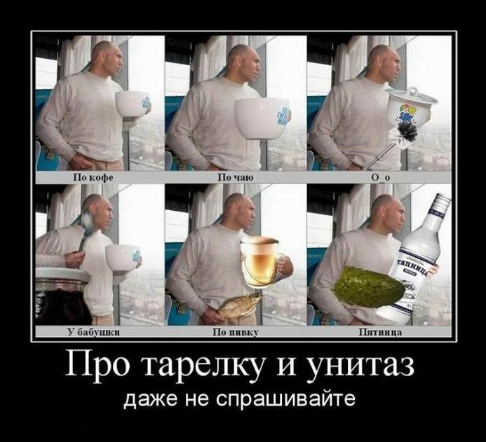 Валуев: Про тарелку и унитаз даже не спрашивайте