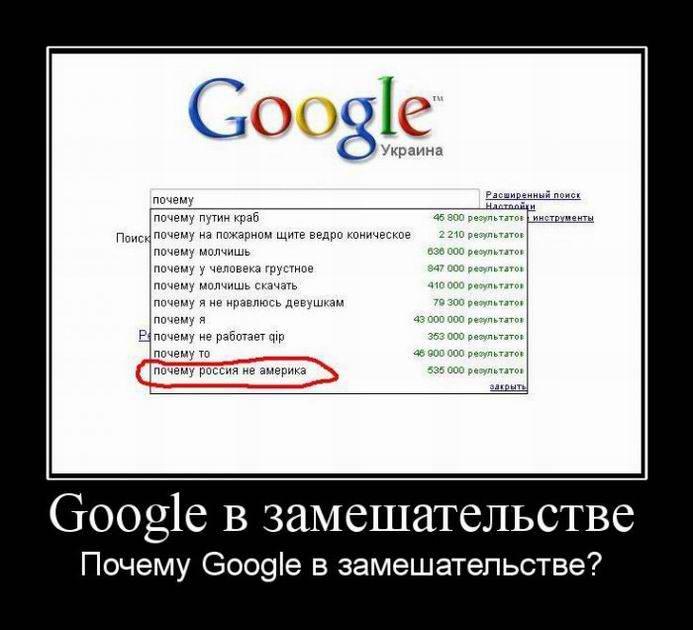 Google Украина в замешательстве