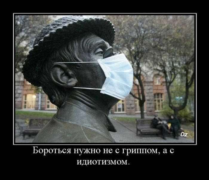 Бороться нужно не с гриппом, а с идиотизмом