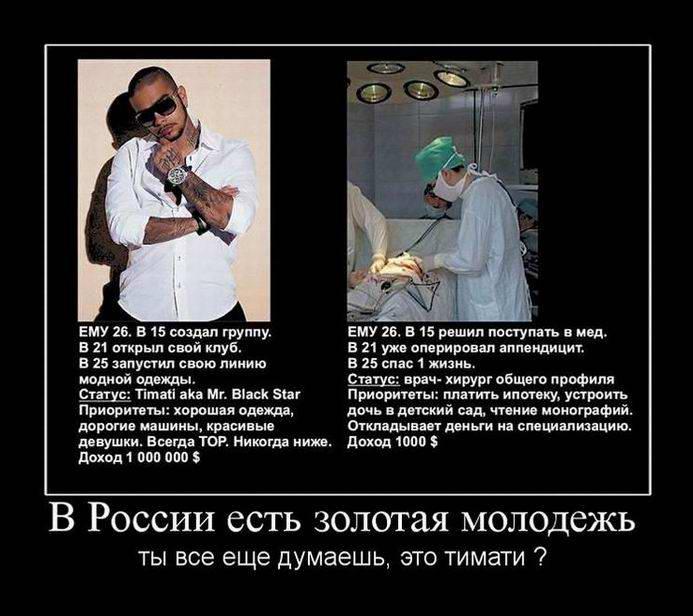 В России есть золотая молодежь