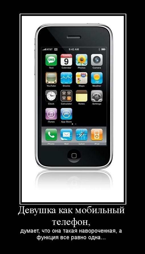 Девушки как мобильный телефон