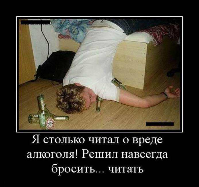 Я столько читал о вреде алкоголя!