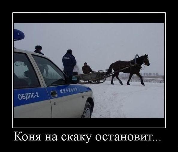 Коня на скаку остановит...