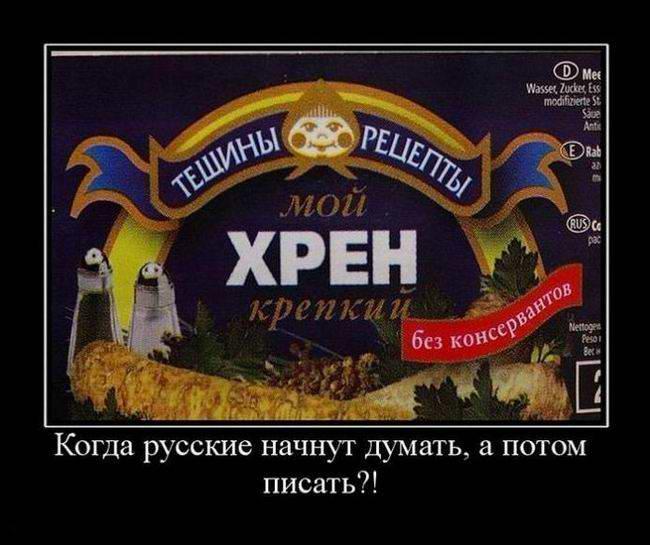 Когда русские начнут думать, а потом писать?!