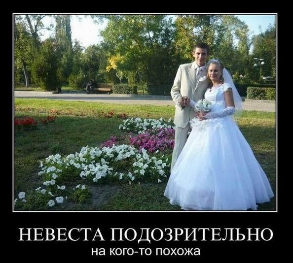 Невеста подозрительно на кого-то похожа