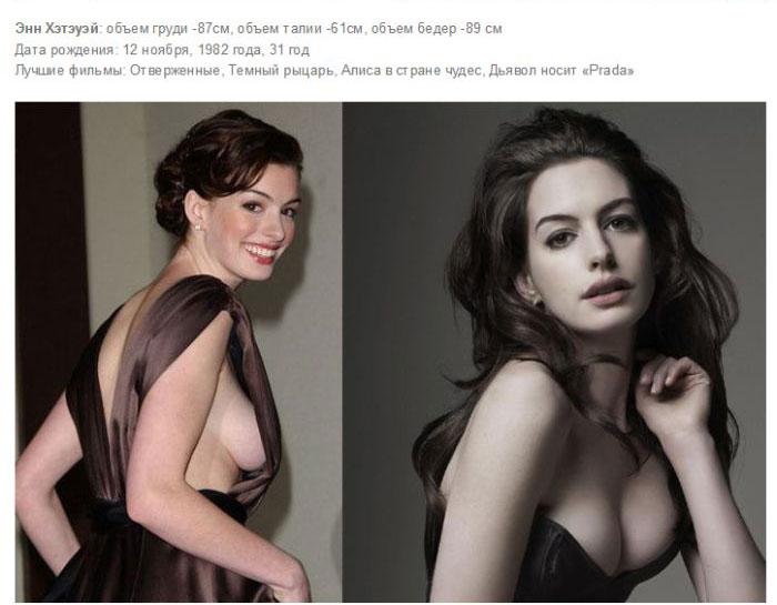 Самые привлекательные девушки Голливуда с внушительным размером бюста