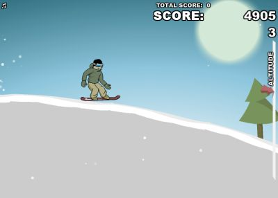 Катаемся на сноуборде (flash игра)
