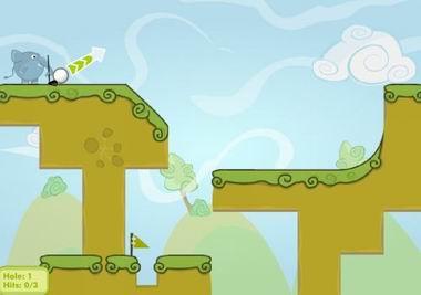 Слон гольфист (flash игра)