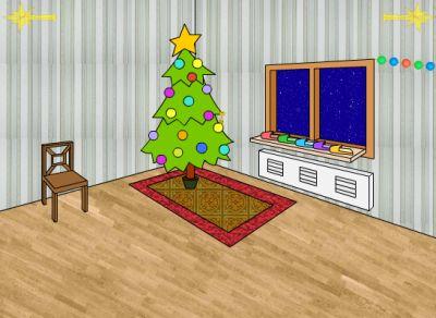 Выбираемся из очередной новогодней комнаты (flash игра)