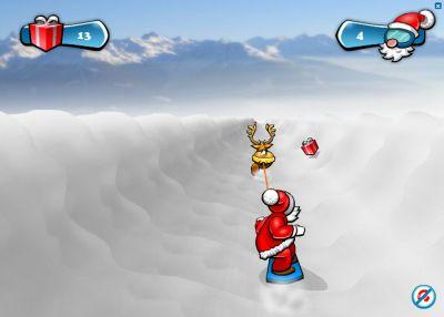 На сноуборде (flash игра)