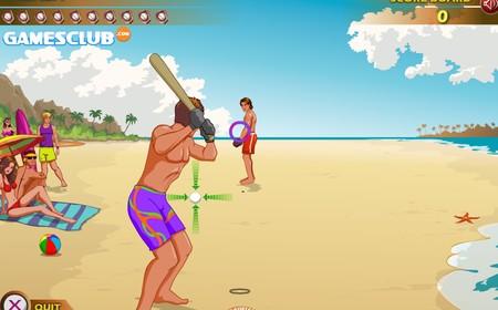 Пляжный бейсбол (flash игра)