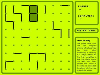 Boxes and dots (увлекательная flash игра)