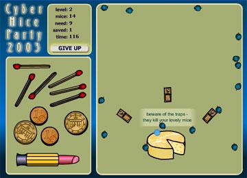 Загони мышей в дырку сыра (flash игра)