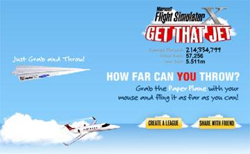 Чей самолет полетит дальше? (flash игра)