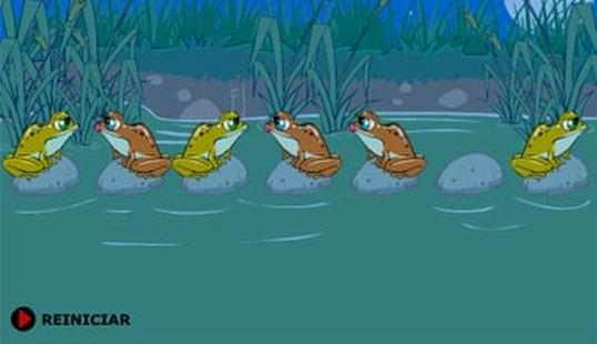 Поменяй лягушек местами логическая игра
