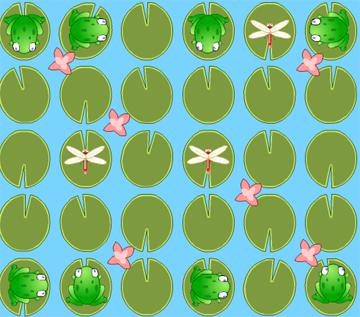 Управляем лягушками и ловим стрекоз (flash игра)