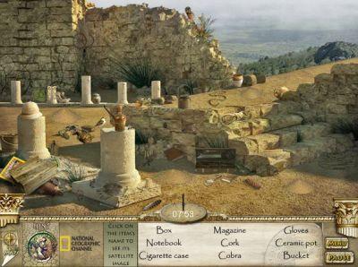 Ищем предметы в гробнице (flash игра)