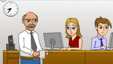 Поцелуй в офисе (flash игра)