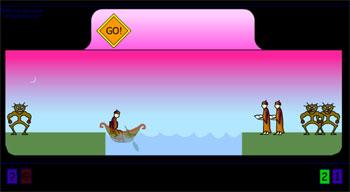 Переведи людей на другой берег (flash игра)