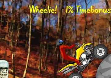 Погоняем на мотоцикле (flash игра)