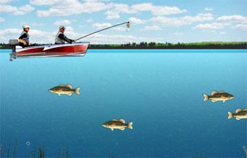 В выходные все на рыбалку (flash игра)