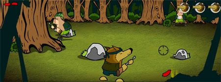 Стрелялка в лесу (flash игра)
