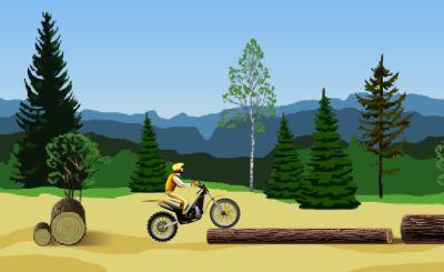 Учимся проезжать преграды на мотоцикле (flash игра)