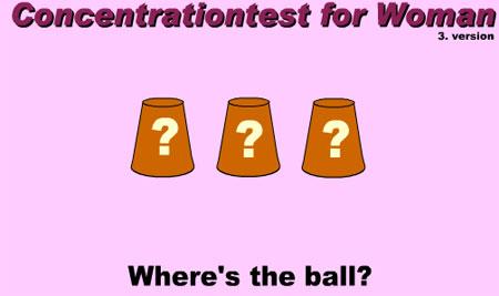 Тест: Концентрация внимания для женщин - Игра НАПЕРСТКИ