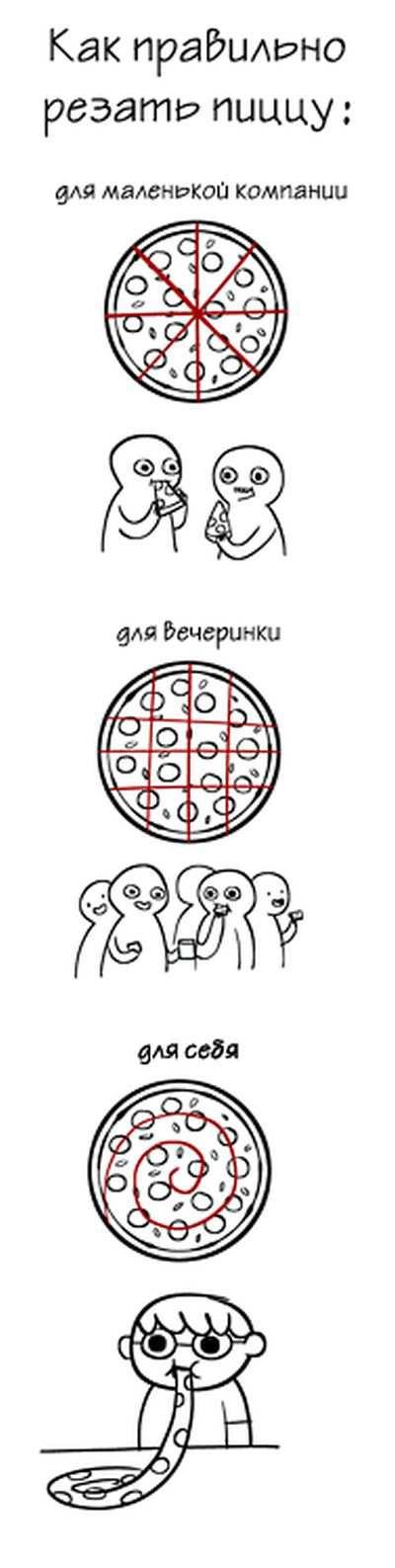 Как правильно резать пиццу