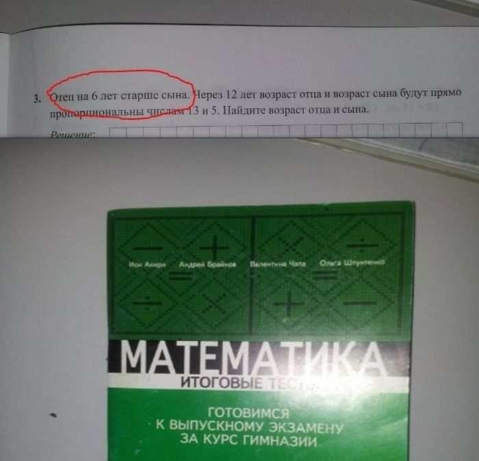 Математика, тесты к выпускному экзамену за курс гимназии
