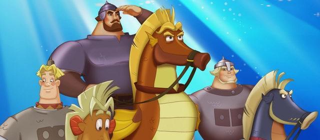 Скачут три богатыря на лошадях, тут откуда ни возьмись перед ними голая тётка