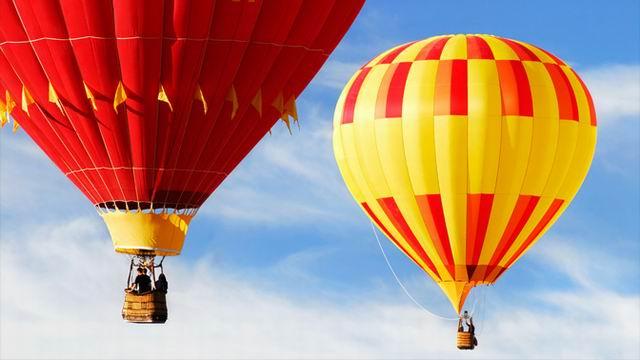 Воздушный шар сбился с курса, и воздухоплаватель опустился с ним вниз