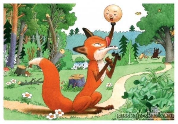Идёт заяц по лесу, видит – колобок навстречу