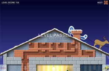 Помоги Дед Морозу зайти в дом (flash игра)