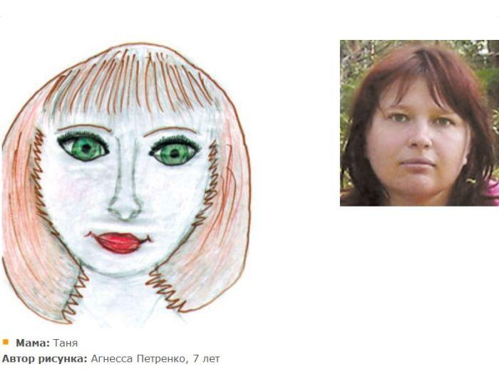 Фото как нарисовать портрет мамы