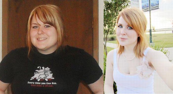 Девушка похудела (15 фотографий)