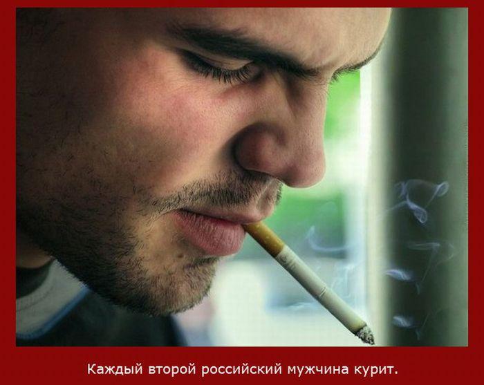 Сколько российских мужчин курят?