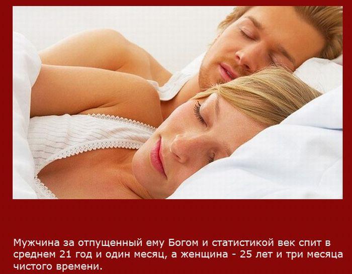 Сколько за всю жизнь спят мужчины и женщины?