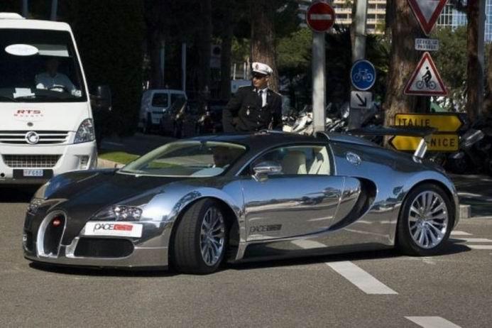 Хромированные автомобили (34 фотографии)