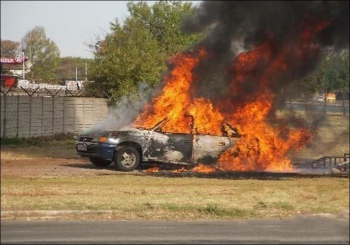 Не очень удачный ремонт авто