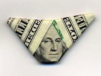 Оригами с купюрами