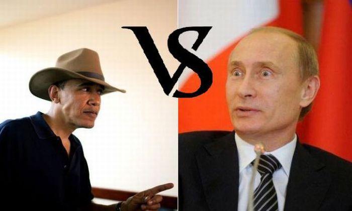 Путин против Обамы (12 фотографий)
