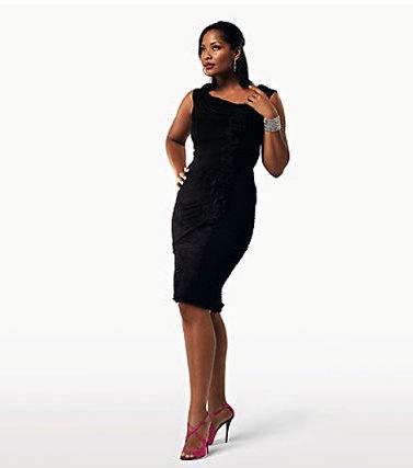 вечерний наряд черное платье Карла Крупп мода