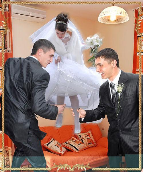 Свадебный фотошоп (16 фотографий)