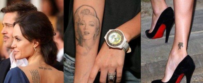 Татуировки голливудских звезд