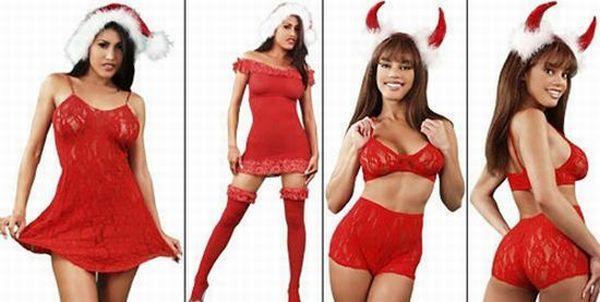 Сексуальные девушки в новогодних костюмах