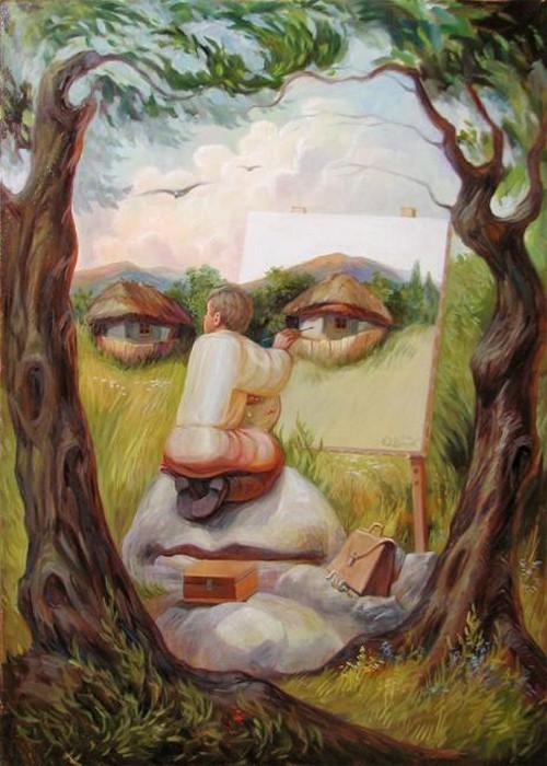 Автопортрет под липами Олега Шупляка