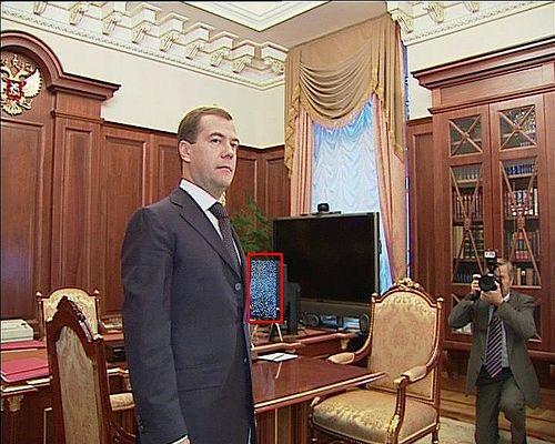 Что за картинка на рабочем столе у Медведева?