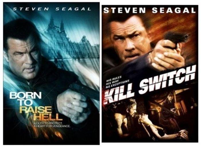 Одинаковые позы актеров на разных постерах (24 фотографии)